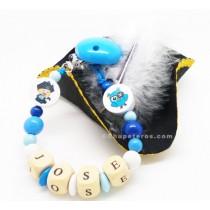 Chupetero Pirata Azul - 4 Letras